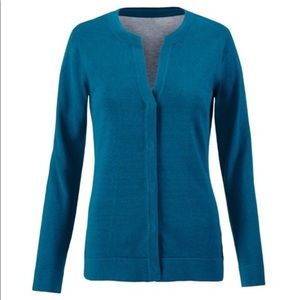 CAbi Dark Teal Cardigan Knit Sweater Style 3368